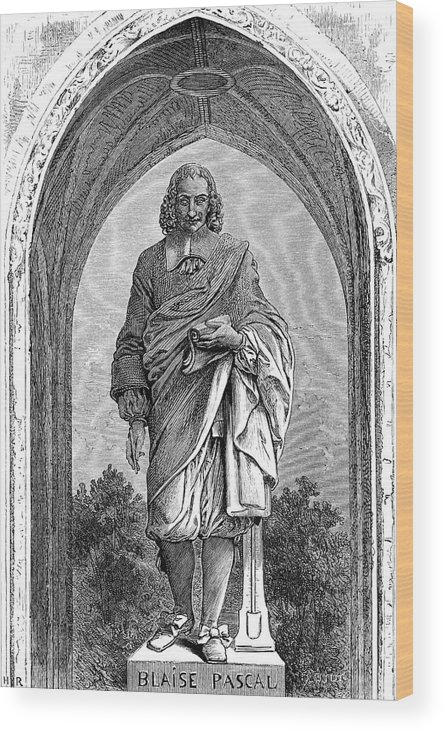 Blaise Wood Print featuring the drawing Blaise Pascal French Philosopher by Mary Evans Picture Library