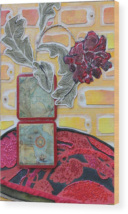 Flower In A Vase Wood Print featuring the mixed media Coasters by Diane Fine