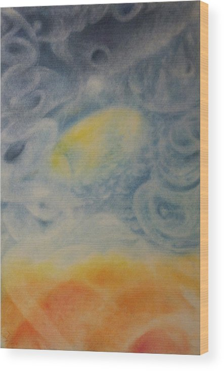 Pastel Wood Print featuring the painting Departure by Joel Rudin