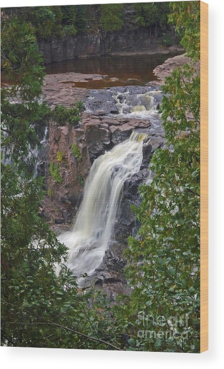 Gooseberry Falls Wood Print featuring the photograph Gooseberry Falls by Stephanie Hanson