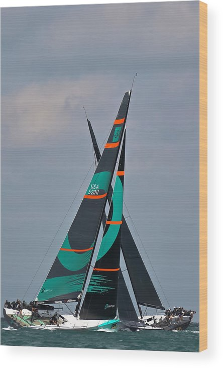Miami Wood Print featuring the photograph Miami Upwind by Steven Lapkin