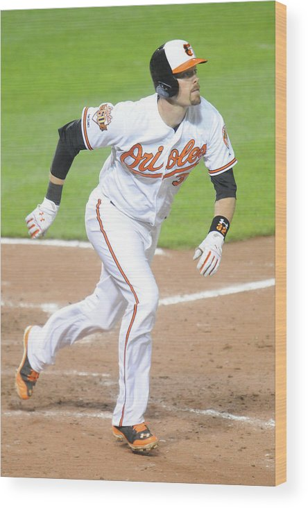 Game Two Wood Print featuring the photograph Pittsburgh Pirates V Baltimore Orioles 2 by Mitchell Layton