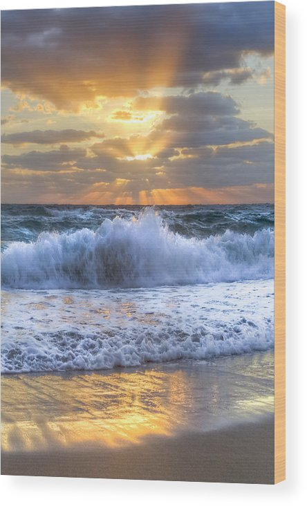 Boats Wood Print featuring the photograph Splash Sunrise by Debra and Dave Vanderlaan