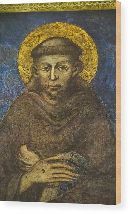 Christian Wood Print featuring the photograph St Francis by John Hix