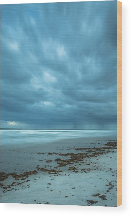 Storm Wood Print featuring the photograph Storm Front by Mary Giordano