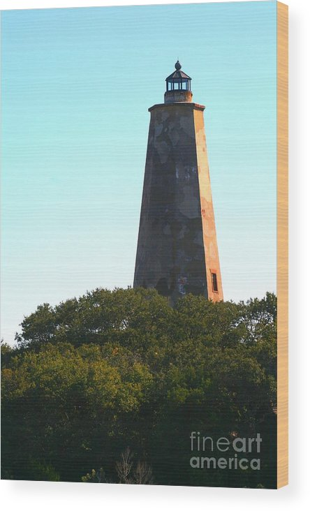 Lighthouse Wood Print featuring the photograph The Lighthouse by Nadine Rippelmeyer