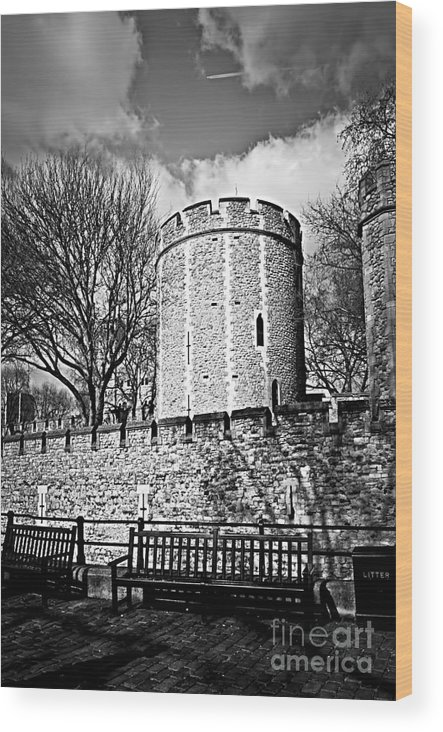 Tower Wood Print featuring the photograph Tower Of London by Elena Elisseeva