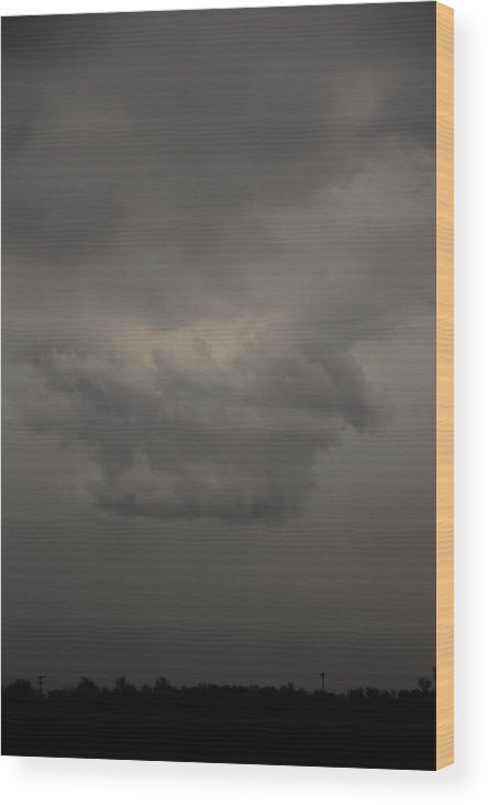 Stormscape Wood Print featuring the photograph Let The Storm Season Begin by NebraskaSC