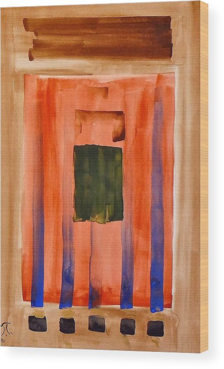 Modern Art Wood Print featuring the painting Untitled by Troy Thomas