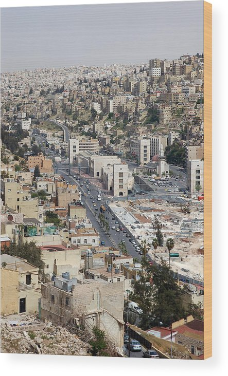 Wood Print featuring the photograph Amman by Virginie Vanos