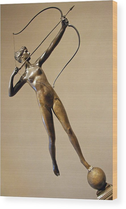Diana Wood Print featuring the photograph Saint Gaudens' Diana Of The Tower by Cora Wandel