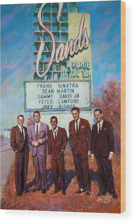 The Rat Pack Wood Print featuring the drawing The Rat Pack by Viola El
