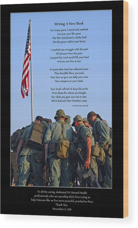 Veterans Wood Print featuring the photograph Veterans Remember 3 by Carolyn Marshall