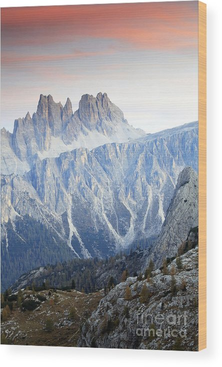 Ferrata Wood Print featuring the photograph Charming Dolomites by Sorin Rechitan