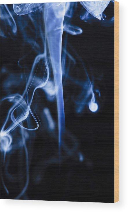 Smoke Wood Print featuring the photograph Colored Smoke by Rashad Penn