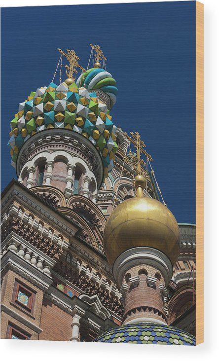 Build Wood Print featuring the photograph Russia, Saint Petersburg, Center by Walter Bibikow