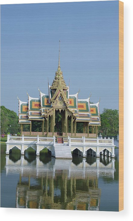 Aisawan Dhipaya Asana Wood Print featuring the photograph Thailand, Bangkok by Cindy Miller Hopkins