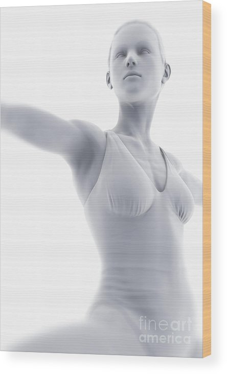 Flexible Wood Print featuring the photograph Yoga Warrior II Pose by Science Picture Co