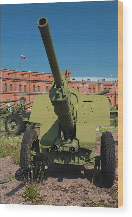 Army Wood Print featuring the photograph Russia, Saint Petersburg, Kronverksky by Walter Bibikow