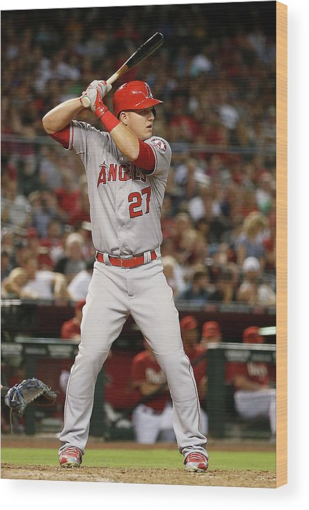 People Wood Print featuring the photograph Los Angeles Angels Of Anaheim V Arizona 8 by Christian Petersen