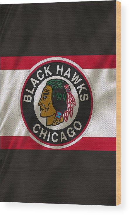 Blackhawks Wood Print featuring the photograph Chicago Blackhawks Uniform by Joe Hamilton