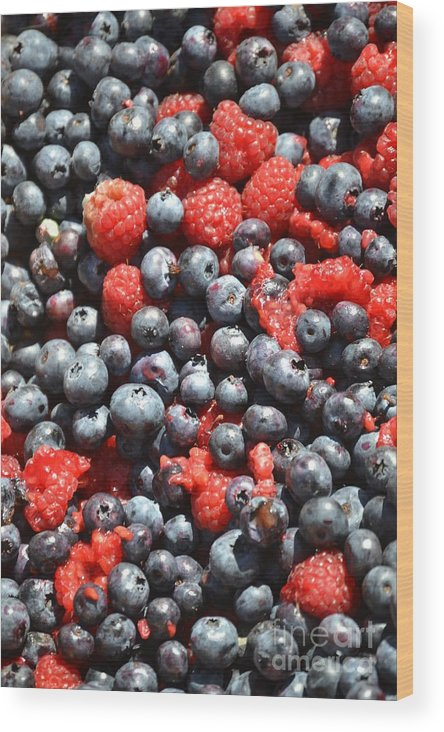 Blueberry Wood Print featuring the photograph A Bunch Of Berries by Dennis Godin