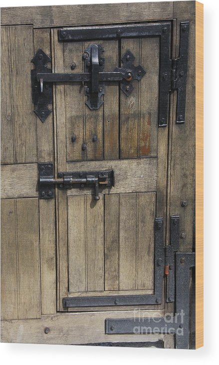 Cahir Castle Wood Print featuring the photograph A Cahir Castle Door by Christiane Schulze Art And Photography