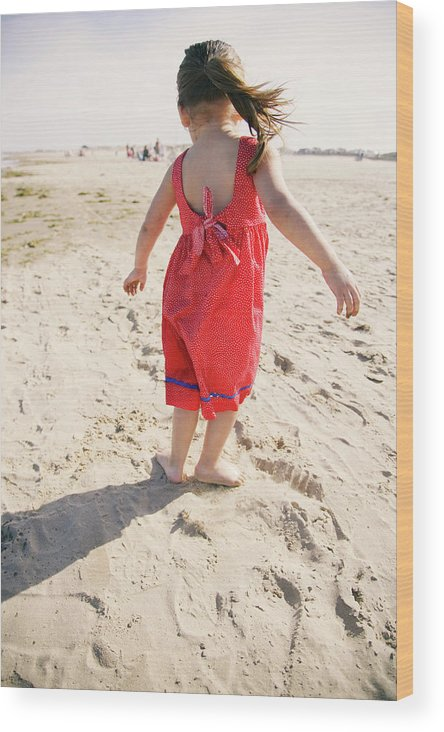 Adorable Wood Print featuring the photograph A Cute Little Hispanic Girl Wearing by Modern Light