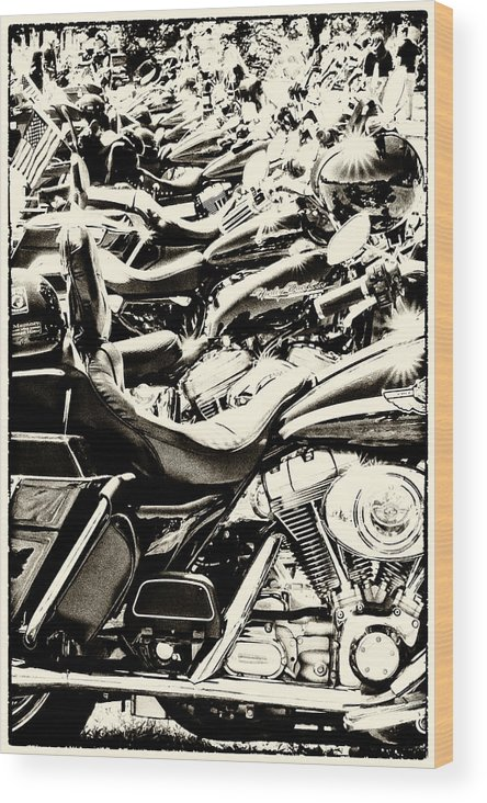Bike Wood Print featuring the photograph A Roar Of Thunder by Tami Stieger