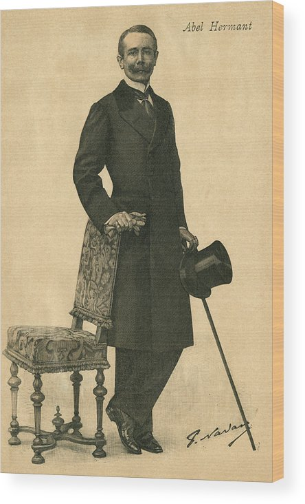Hermant Wood Print featuring the drawing Abel Hermant (1862-1950) French Writer by Mary Evans Picture Library