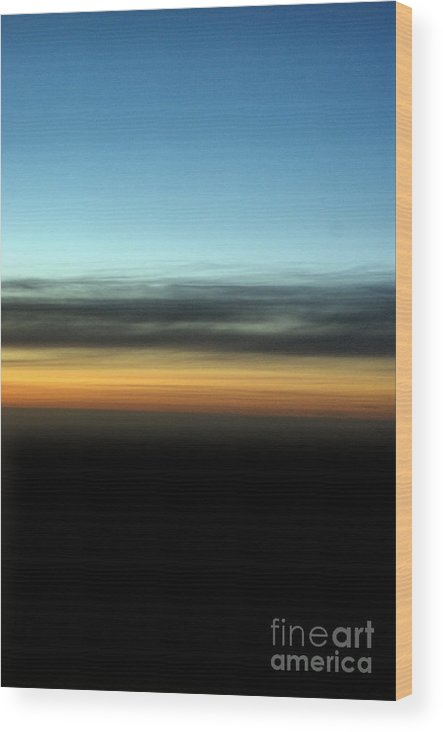 Landscape Wood Print featuring the photograph Abstract Night Sky by Brian Raggatt