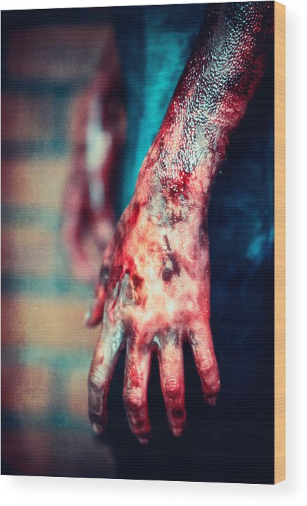 Woman Wood Print featuring the photograph Accident by Innershadows Photography