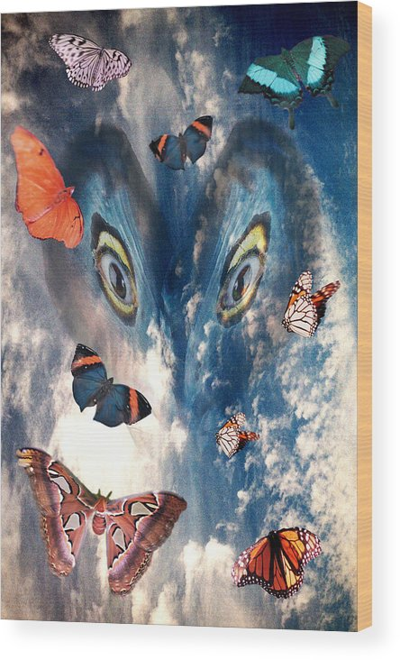 Air Wood Print featuring the digital art Air by Lisa Yount