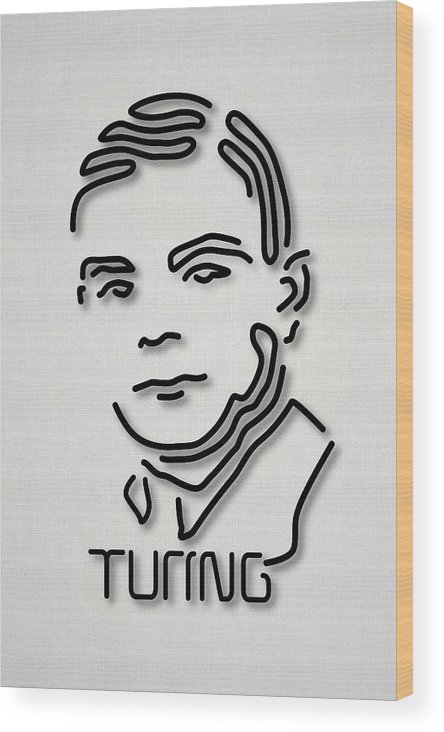1900s Wood Print featuring the photograph Alan Turing by Ramon Andrade 3dciencia