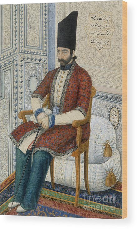 Ali Quli Mirza Wood Print featuring the photograph Ali Quli Mirza by British Library