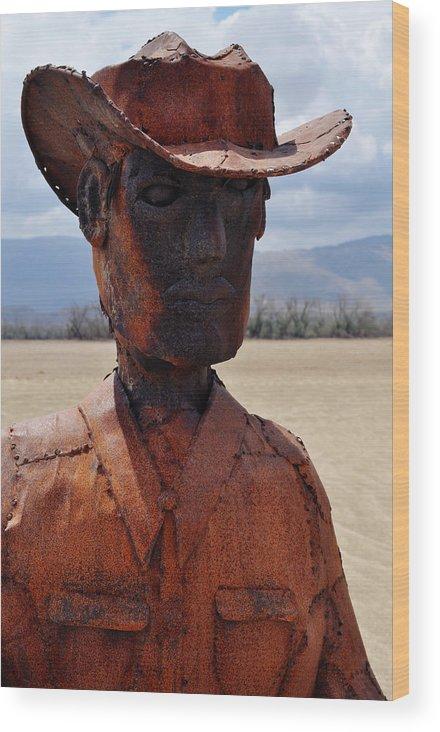 Anza Borrego Wood Print featuring the photograph Anza Borrego Cowboy by Kyle Hanson