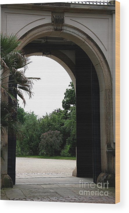 Archway Wood Print featuring the photograph Archway Pillnitz Castle by Christiane Schulze Art And Photography