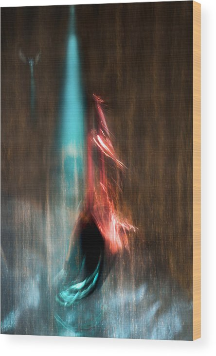 Abstract Wood Print featuring the photograph Ascension by Linda McRae