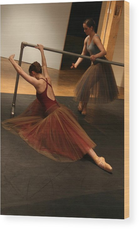 Ballet Wood Print featuring the photograph At The Barre by Kate Purdy
