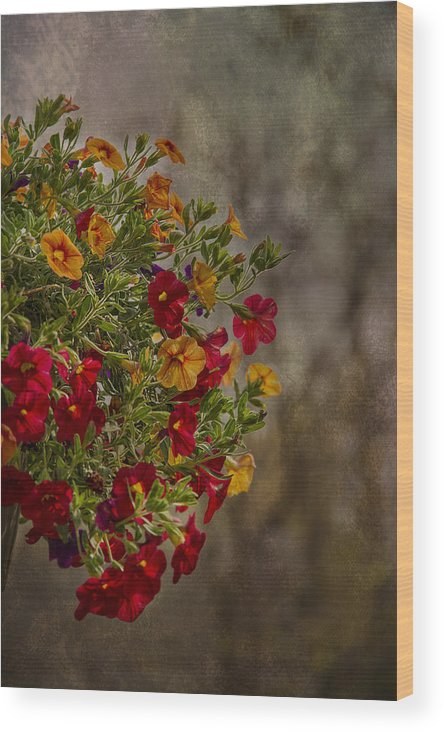 Flowers Wood Print featuring the photograph Autumn Bouquet by Sarina Cook