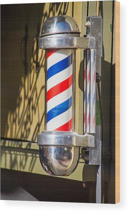 Barbershop Wood Print featuring the photograph Barbershop by Wayne Stabnaw