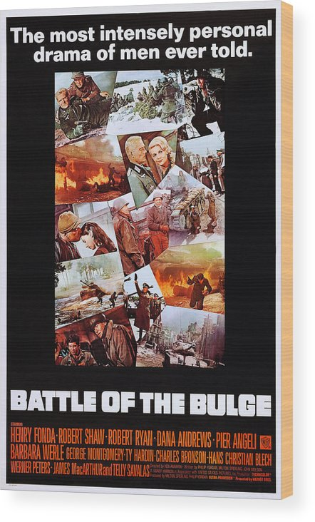 1960s Movies Wood Print featuring the photograph Battle Of The Bulge, Us Poster, Robert by Everett