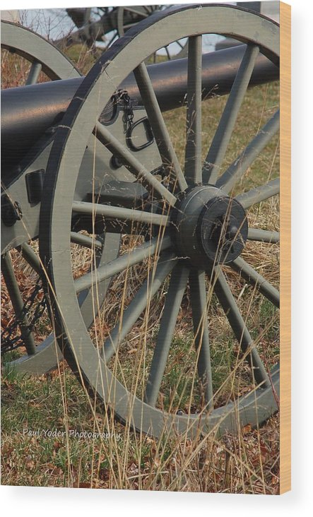 Pennsylvania Wood Print featuring the photograph Battlefield Cannon by Paul Yoder
