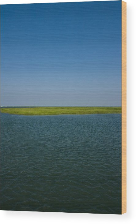 New Jersey Wood Print featuring the photograph Bay by David Oakill