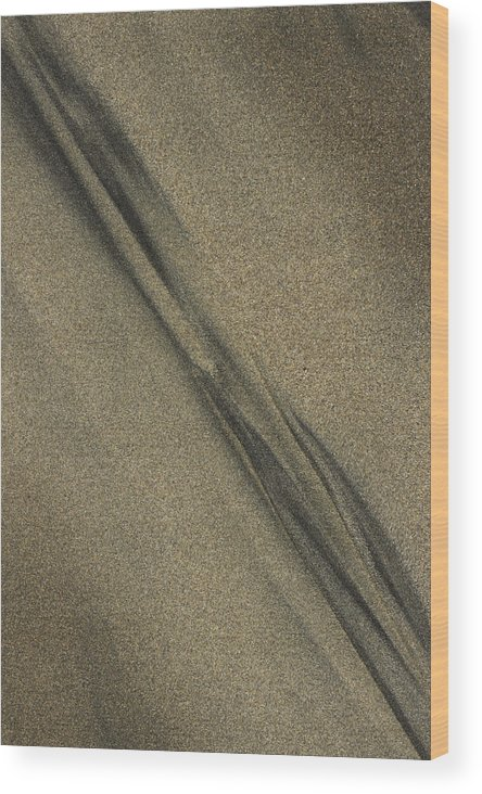 Beach Wood Print featuring the photograph Beach Abstract 17 by Morgan Wright