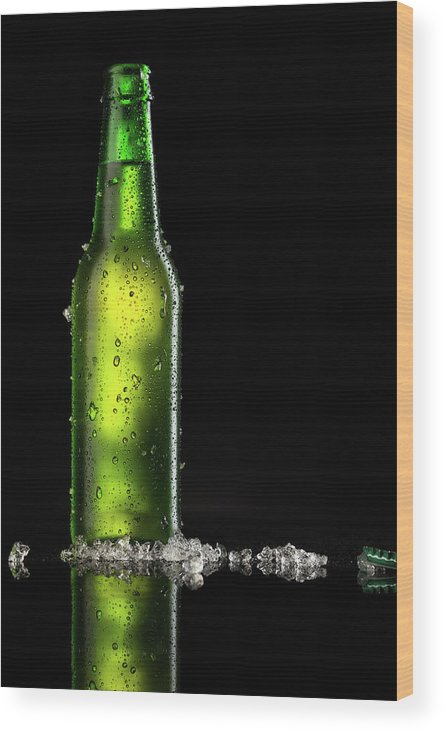 Alcohol Wood Print featuring the photograph Beer by Ultramarinfoto