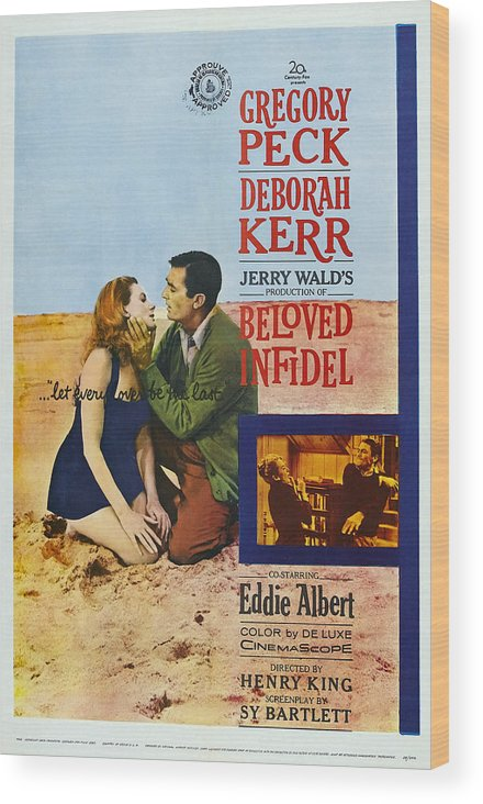 1950s Poster Art Wood Print featuring the photograph Beloved Infidel, Canadian Poster by Everett