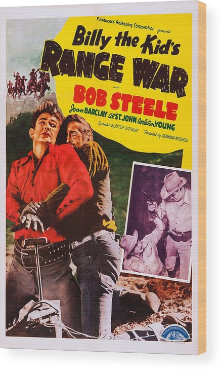 1940s Movies Wood Print featuring the photograph Billy The Kids Range War, Aka Texas by Everett