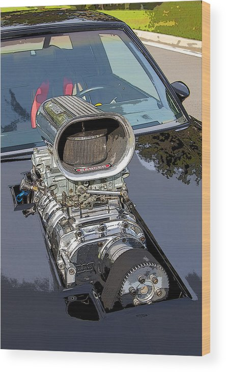 V8 Wood Print featuring the photograph Blow Me Down by Rich Franco