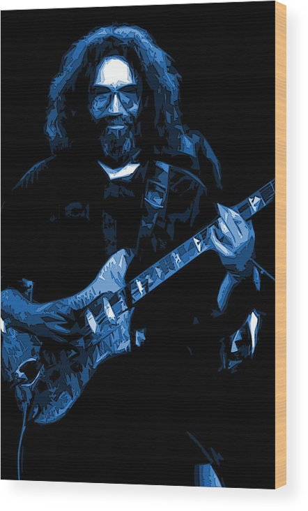 Jerry Garcia Wood Print featuring the photograph Blue Eyes Of The World by Ben Upham